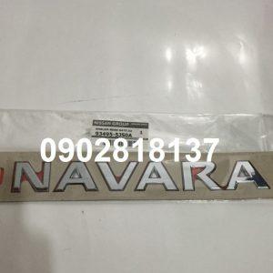 Chữ NAVARA cốp sau